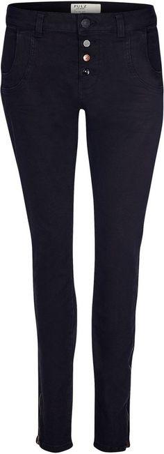 Pulz Jeans Loose-fit-Jeans »Melina Loose« für 99,95€. Jeans im Boyfriend-Look, Pflegeleichte Baumwolle mit Stretch, Modell MELINA, Loose-fit/lockere Form bei OTTO