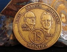 Alcoholics Anonymous AA 9 Month Bronze Medallion Token Coin Chip Sobriety Sober for sale online Recovering Addict, Alcoholics Anonymous, 9th Month, Sober, Recovery, Coins, Bronze, Antiques, 18 Months