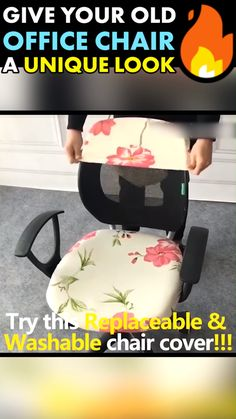 Give Your Office Chair A New Unique Look!- Give Your Office Chair A New Unique Look! Protect new chairs or refurbish your old ones with our… - Unique Furniture, Diy Furniture, Best Office Chair, Office Chairs, Office Chair Covers, Cool Gadgets, Home Renovation, Things To Buy, Decoration