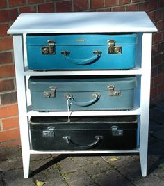 Vintage Suitcase Chest of Drawers