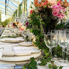 Gorgeous long tables: http://www.stylemepretty.com/europe-weddings/france/normandy/2015/06/17/inside-the-magic-of-noor-fares-over-the-top-french-wedding-to-alexandre-al-khawam/