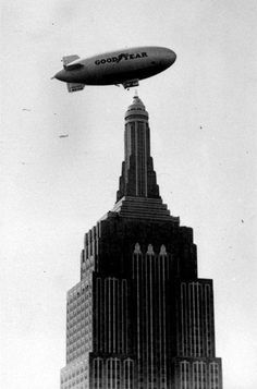 Airship on Empire State Building