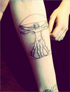 ... tattoo - The vitruvian man. Done by Abby Williams, Brilliance Tattoo