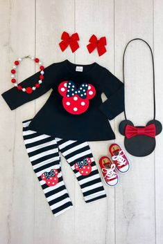 RED POLKA DOT MINNIE BOUTIQUE OUTFIT