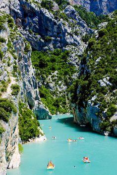 Les Gorges du Verdon in Provence, France by Shutterstock contributor PHB.cz (Richard Semik)
