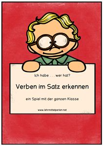 Ich habe - wer hat: Verben Second Grade, Classroom, Teaching, School, Language Lessons, Teaching Resources, Class Room, Education, 2nd Grades