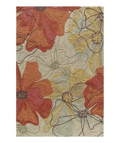 Look what I found on #zulily! Red & Tan Floral Rug by Momeni Rugs #zulilyfinds