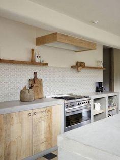 Home Decor Living Room Concrete kitchen counter.Home Decor Living Room Concrete kitchen counter Küchen Design, House Design, Interior Design, Design Ideas, Design Styles, Design Shop, Pattern Design, Wooden Kitchen, New Kitchen