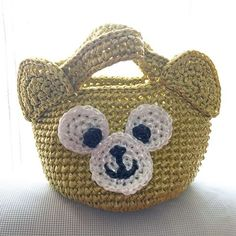 Images about #スズランテープバッグ tag on instagram Duffy The Disney Bear, Crochet Purses, Grandchildren, Straw Bag, Diy And Crafts, Baby Shoes, Tags, Baskets, Instagram