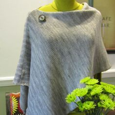 A sneak peek at fall knitting - Imagine Knit Designs Lincoln Park Poncho knitting pattern