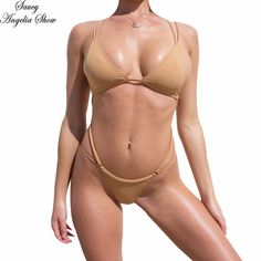 ab8a87c40a US $18.59 7% OFF|SAUCY ANGELIA Women Swimwear 2019 New Nude Hollow Out Thong  One Piece Swimsuit Sexy High Waist Bodysuits Bathing Suits Monokinis-in  Body ...