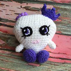 Shopkins Gemma Stone, Shopkins Crochet pattern by Jen Smith