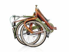 Late 60's Duemila Italian folding bike - folded