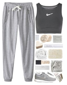 """""""Best Trend Of 2016: Athleisure"""" by amazing-abby ❤ liked on Polyvore featuring NIKE, Brinkhaus, Fresh, W3LL People, D.R. Harris & Co Ltd., Christy, NARS Cosmetics, MILK MAKEUP, H&M and CÉLINE"""