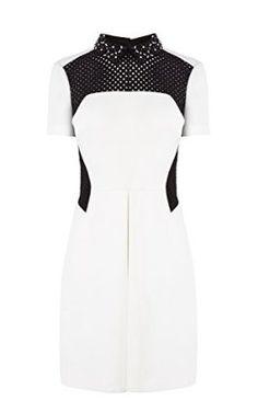 Textured box-pleat dress