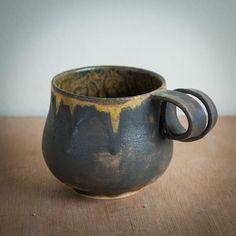 Ioanna Papouli handmade pigtail stoneware mugs Stoneware Mugs, Ceramic Mugs, Pigtail, Pottery Designs, Ceramics, Tableware, Handmade, Ceramica, Pottery Mugs