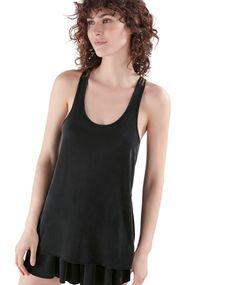 Maglietta senza maniche strisce sulla schiena