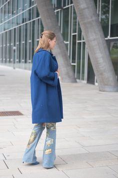 Vintage Mantel und DG Jeans in der Trendfarbe Serenity - yellowgirl der DIY und lifestyle Blog