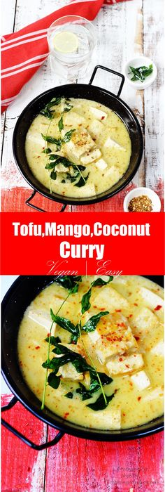 Vegan, light and Easy Tofu, Mango and Coconut Curry