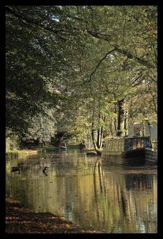 Autumn in Uppermill Canal Boat, Bobs, Places Ive Been, Manchester, England, Memories, Autumn, Water, Life