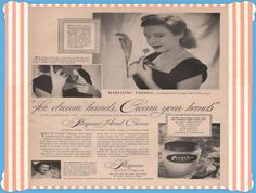 Vintage Beauty and Hygiene Ads of the Vintage Makeup, Vintage Vanity, Vintage Beauty, Vintage Advertisements, Vintage Ads, Vintage Photos, Beauty Ad, Beauty Makeup, Get Free Makeup