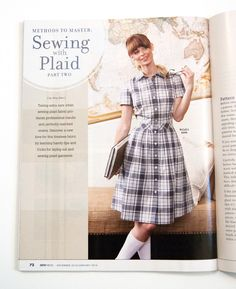 Tips and tricks for laying out and sewing plaid garments