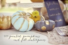 Calabazas decoradas DIY Dama blanca #bodas #ideas #diy