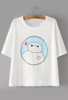 T-shirt Baymax imprimé - Blanc 10.88