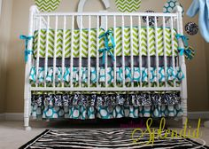 Why didn't this tutorial exist when my children were babies?  Ruffled Crib Skirt Tutorial {Nursery Bedding Reveal} | Positively Splendid {Crafts, Sewing, Recipes and Home Decor}