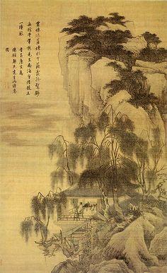 明-唐寅-落霞孤鹜图-上海 | by China Online Museum - Chinese Art Galleries