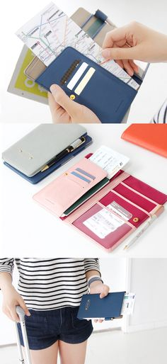 great passport wallet...tons of space available for 3 card slots, 6 pockets for bills, receipts, passport, boarding pass, maps, and so much more. The enitre passport wallet has RFID protection installed too so unauthorized readers can't snatch your information! Very slim & compact, perfect for traveling