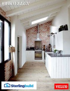 #WinAVELUX for a light and spacious kitchen extension #inspiration