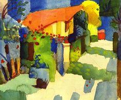 August Macke -  Haus im Garten, 1914