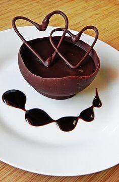 Espresso de mousse de chocolate