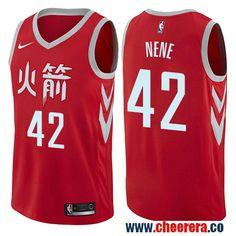 Houston Rockets  42 Nene Red Nike NBA Men s Stitched Swingman Jersey City  Edition Robert Horry b4fed433e
