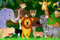 Jungle Animals Background 1 HD Wallpapers