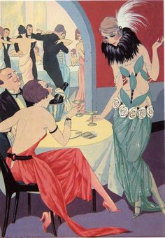 an-imbibing-gentleman:    Cocktail Hour Art from the 1920's