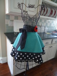 4RetroSisters Womens Kitchen Half Aprons Retro and Vintage Inspired