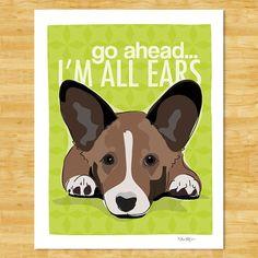 Hey, I found this really awesome Etsy listing at http://www.etsy.com/listing/79989417/cardigan-corgi-print-5x7-dog-art-go