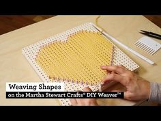 How to Weave Shapes with the Martha Stewart Crafts® DIY Weaver(TM) - YouTube