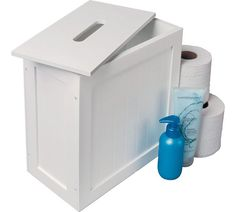 Buy Argos Home Slimline Shaker Unit with Lid - White at Argos. Thousands of products for same day delivery or fast store collection. White Bathroom Shelves, Bathroom Storage Boxes, White Bathroom Furniture, Bathroom Shelves Over Toilet, Bathroom Shelf Decor, Downstairs Toilet, Toilet Room, Shower Shelves, Bathroom Ideas