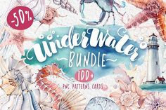 UNDERWATER BUNDLE 50%off by Lemaris on @creativemarket