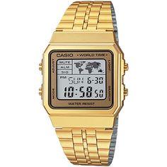 143651942be1 Casio A500Wga-9 Men S Retro World Time Alarm Chronograph Digital Watch 50M  Relojes En Línea