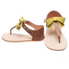 These are the cutest sandals EVER! Vivi Sandal / Yellow Bow - Zuzii