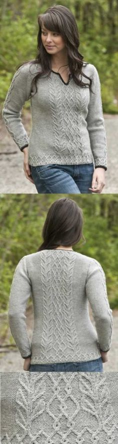 Graceful Cabled Sweater Free Knitting Pattern