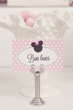 Classy Minnie Mouse party printables