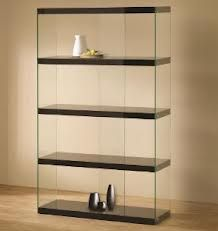 Shop the Illusion Bookcase at Eurway Modern Furniture - cool contemporary furniture at great prices including modern shelving Black Display Cabinet, Display Cabinet Lighting, Display Shelves, Display Cabinets, Glass Cabinets, Curio Cabinets, Display Cases, Shop Cabinets, Wall Cabinets