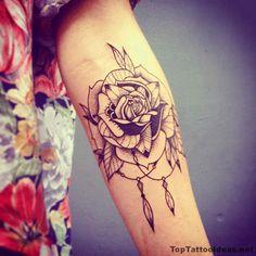 Beautiful Black Rose Tatt Tattoo Idea