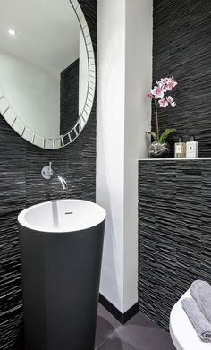 Monochromatic look and feel for your bathroom #ourproject #designinspo #weekenddesigninspiration #passionfordesign #monochrome #TGIF