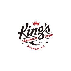 👈 king's sandwich shop by joshua berman design - ✅ learn log Logo Desing, Food Logo Design, Web Design, Badge Design, Logo Food, Graphic Design Logos, Letterhead Template, Brochure Template, Logo Templates
